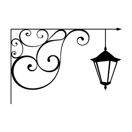 lamp silhouette: Street lamp 1 Illustration