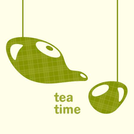 tea time: tea time Illustration