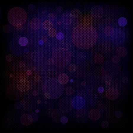 metallic background: Bokeh on metallic background