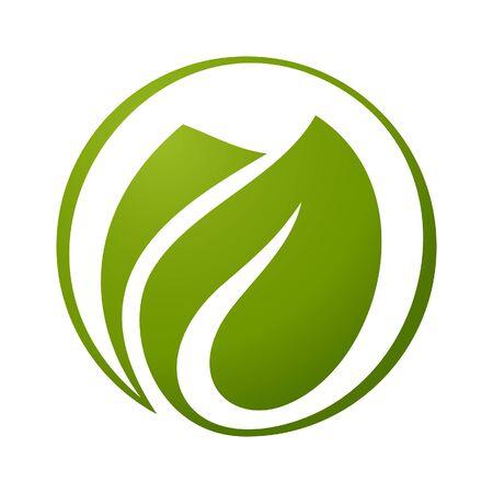 original ecological: leaves logo