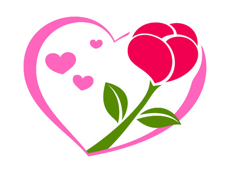 corazones: Rose on the heart