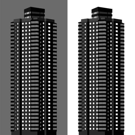 apartment block vector illustration Illustration