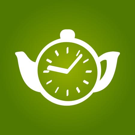 Tea time concept icon