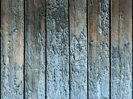 wooden surface of the strips and planks from old peeling paint and cracked Stockfoto