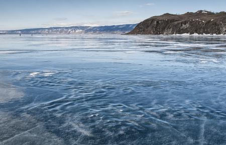 wavy ice of lake Baikal