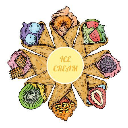 sweet ice creme food dessert Illustration