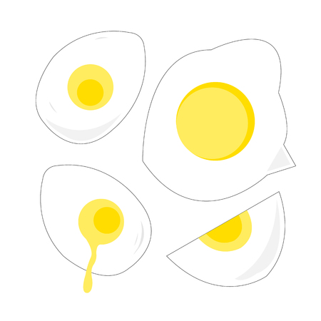egg yellow poached hardboiled