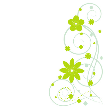 Abstract vertical floral background with place for your text. Vector flower with swirl for greeting and invitation card.