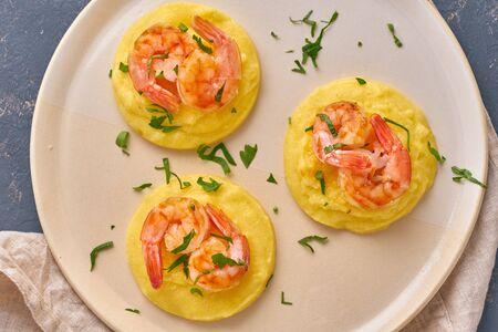 Shrimp & Polenta - fodmap dash diet gluten free dish