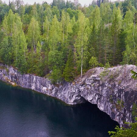 marble quarry, canyon, harsh Northern nature