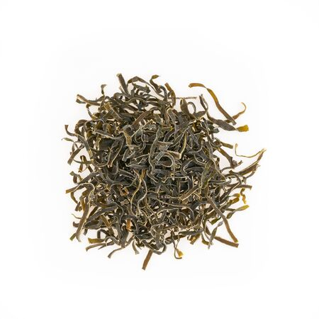 dried alga seaweed isolated on white background, see kale, seafood