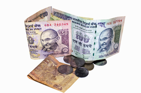 indian currency: Indian currency rupee a white background