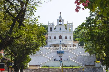 immaculate: church of Immaculate Conception city of Panaji of GOA Stock Photo