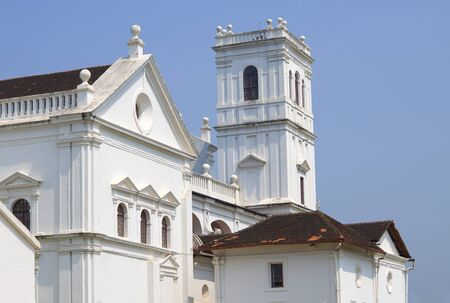 st francis: The top part of the building St. Francis Assizscys Church in Old Goa