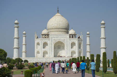Taj Mahal the mausoleum in Agra India