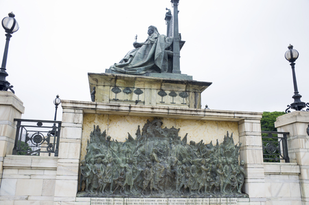 Sculpture to the Queen Victoria in India to Kolkata