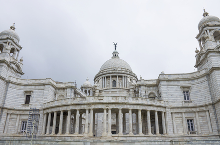 The palace in India to Kolkata Victoria Memorial Hall Stock Photo - 104912810