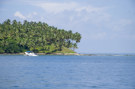 The beautiful landscape of Andaman and the Nicobar Islands in India 免版税图像