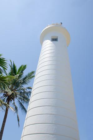 The beacon of a fort of Sri Lanka Stock Photo
