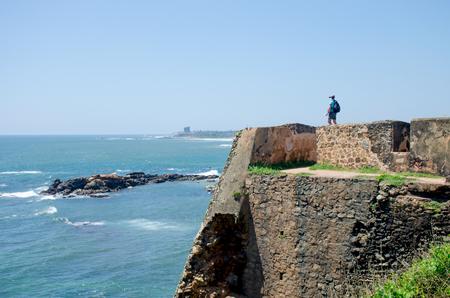 Galle fort in Sri Lanka Indian Ocean