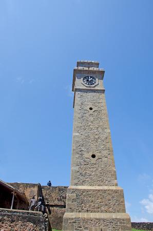 Clock tower Galle fort in Sri Lanka Stock Photo