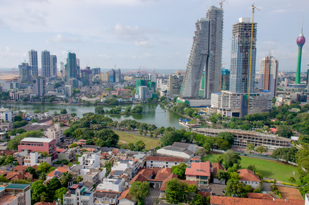 landscape top view city of colombo