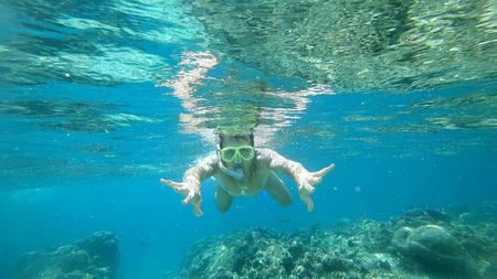 the Indian Ocean snorkeling Фото со стока
