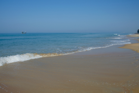 Beautiful landscape of the Arabian Sea in Goa India