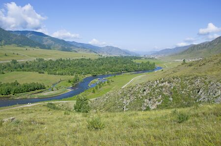 Landscape summer in mountains altai