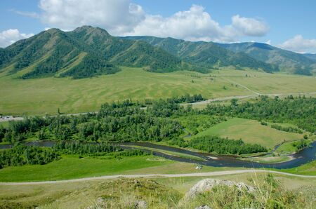 Mountain landscape the river