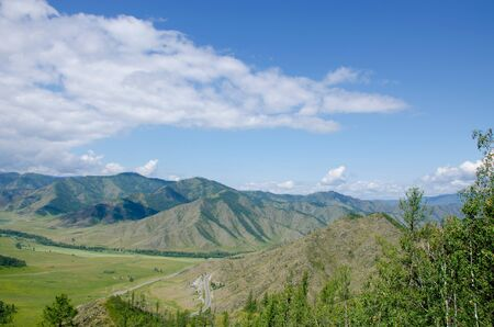 pass in Mountain Altai a beautiful landscape Stock Photo