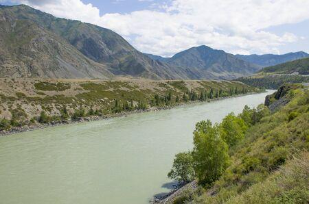 Mountain landscape Altai Russia the river