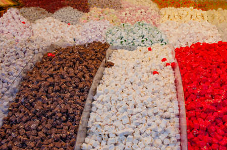 Sweets of Turkey in the market on sale