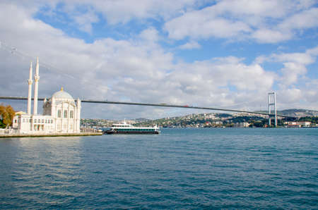 landscape sights city Istanbul view from the sea 免版税图像