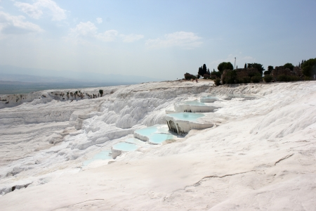 travertines of Pamukkale in the afternoon photo