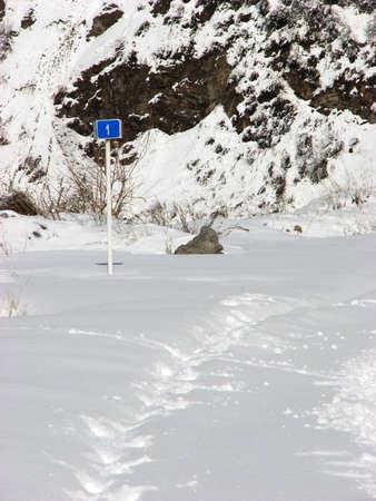 snows: Long way through snows Stock Photo