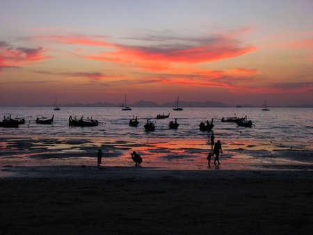 Tide on Thai beach photo