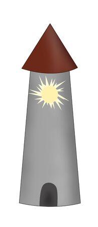 beacon: drawn beacon Stock Photo