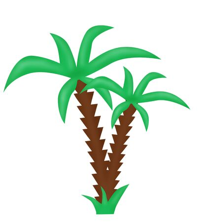 drawn palm tree Stock Photo - 3653768