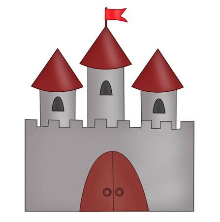 Cartoon drawn castle Stock Photo - 3702753