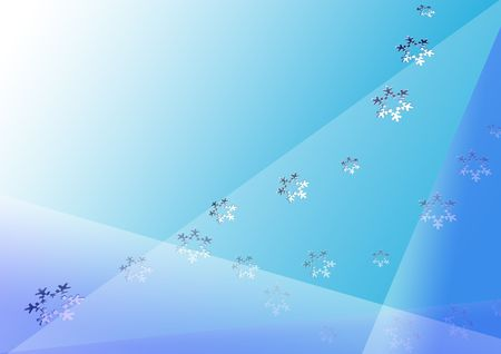 Blue abstract background with snowflakes Stock Photo - 3728551
