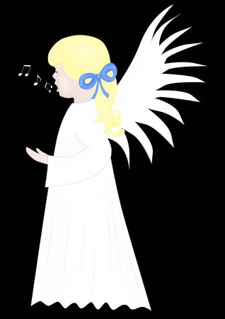 Singing angel photo