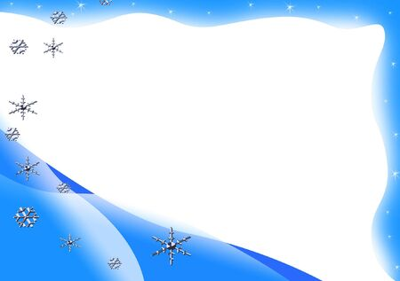 Blue winter frame with snowflakes Stock Photo - 3746959