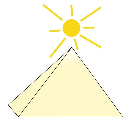 pyramid of the sun: Pyramid and the sun Stock Photo