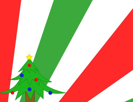 new year background with christmas tree Stock Photo - 3764046