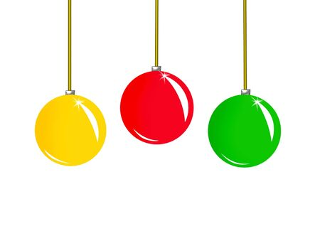Three christmas balls Stock Photo - 3845394