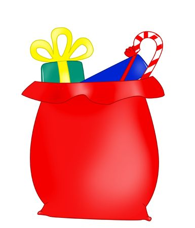 Santa Claus bag Stock Photo - 3960312