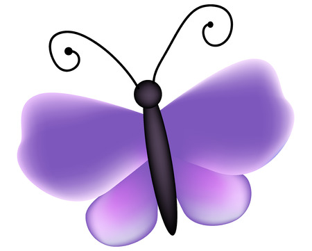 butterfly with violet wings Vector