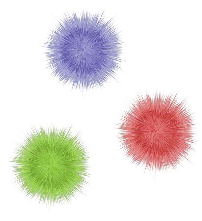 three pompons