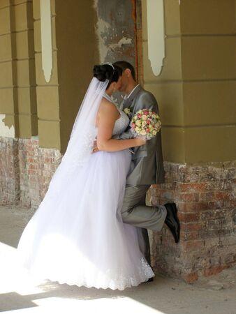 Romantic kiss photo
